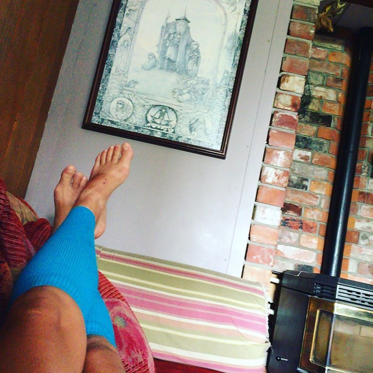 Recovery mode after 2247 kilometers of hiking on a couchhellip