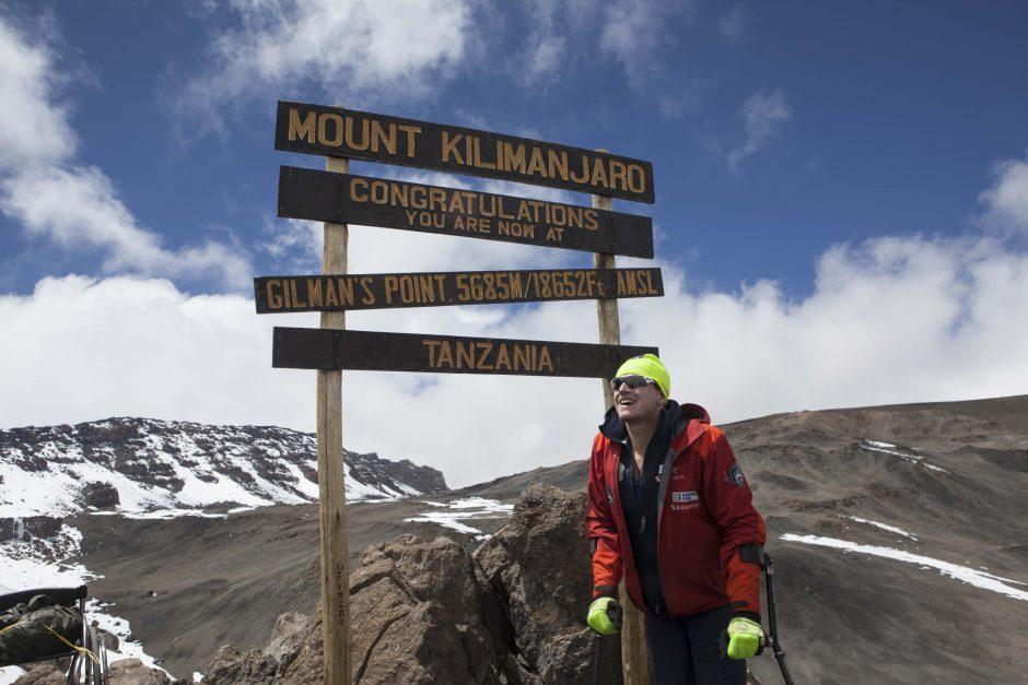 Aron på Kilimanjaro 2016. Foto: Peter Mattsson