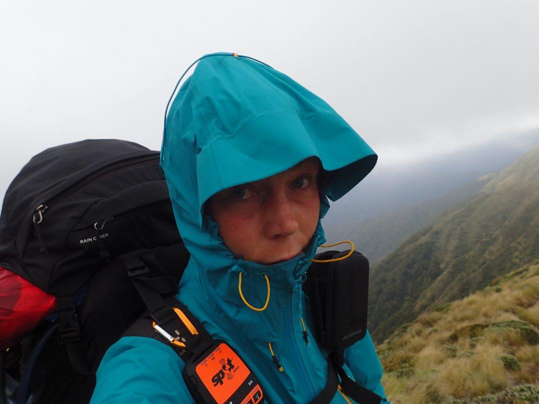 Livrädd i stormen på Mount Crawford.