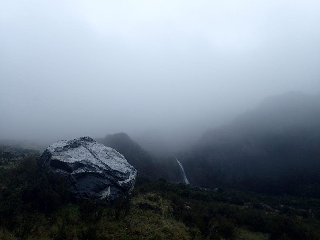 Vackra vyer(?)...och dessutom härligt att vandra i det spöklika regnet ensam.