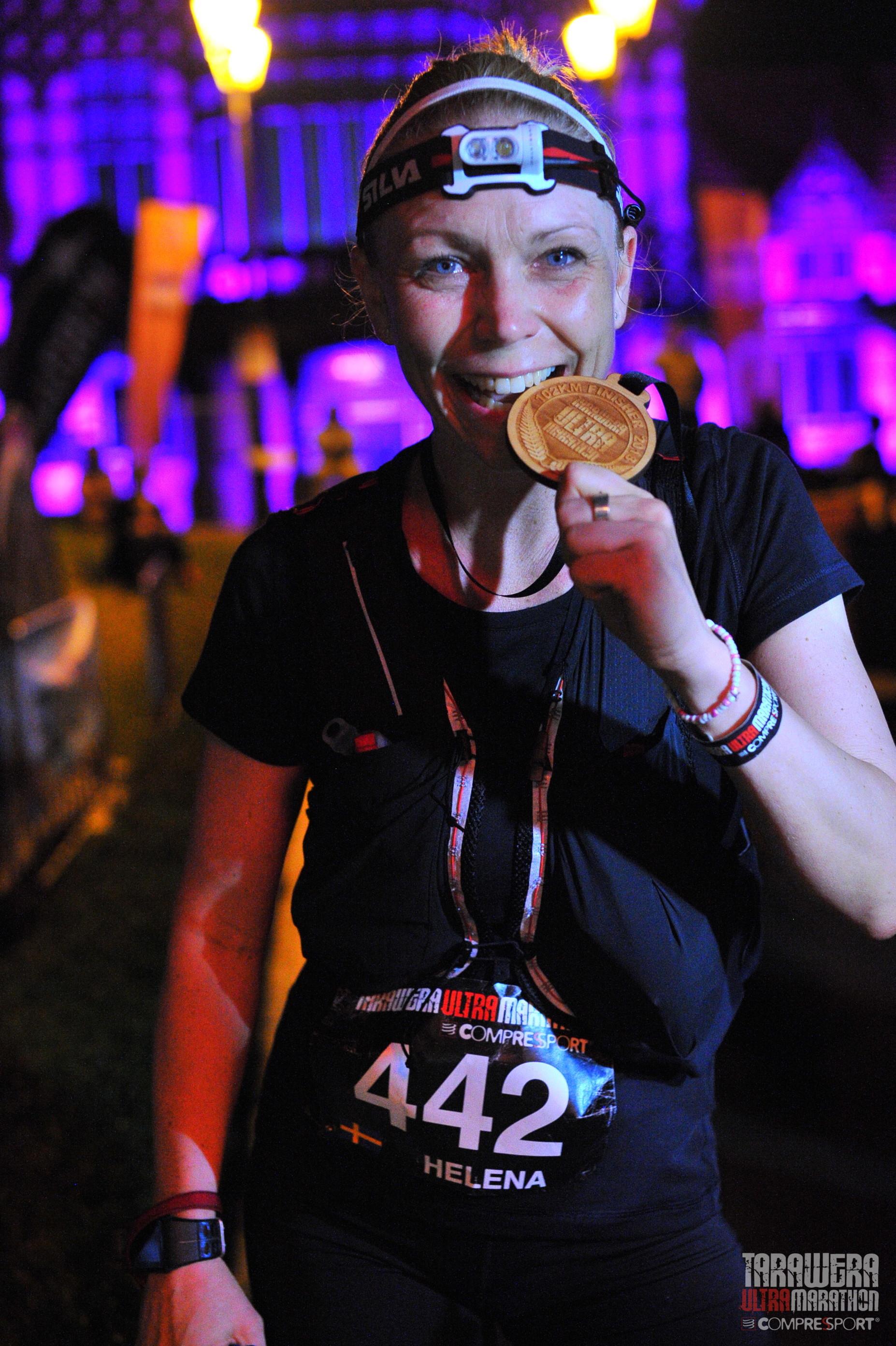 Tarawera Ultramarathon finisher